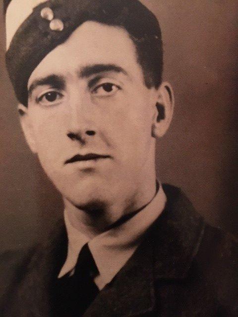 Portrait of Cadet Pilot Ted Morgan in uniform, 1942