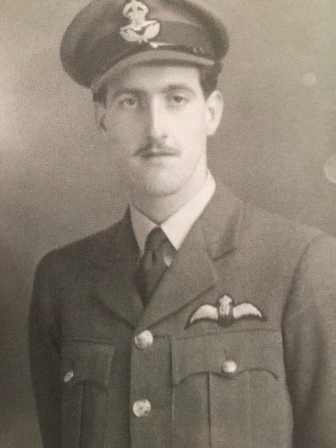 Flight Lieutenant Ted Morgan in uniform, circa 1945