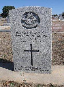 Owen Phillips' Gravestone, Ponca City, Oklahoma