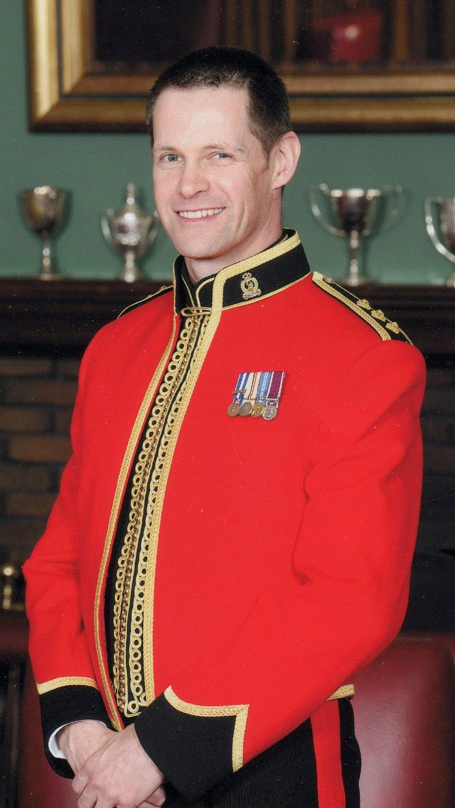 Ian Davies, in uniform, shortly after being commissioned.